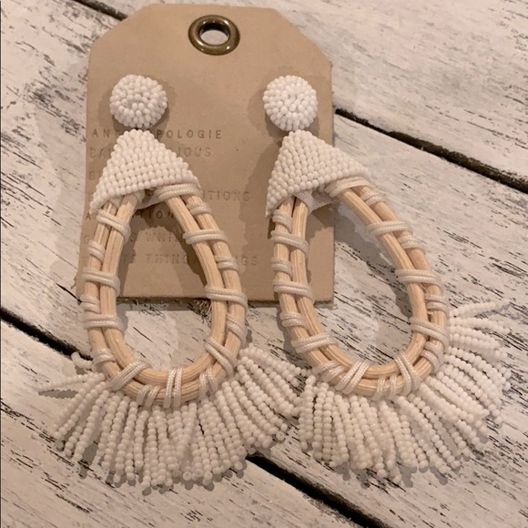 NWT! Beautiful beaded earrings from Anthropologie